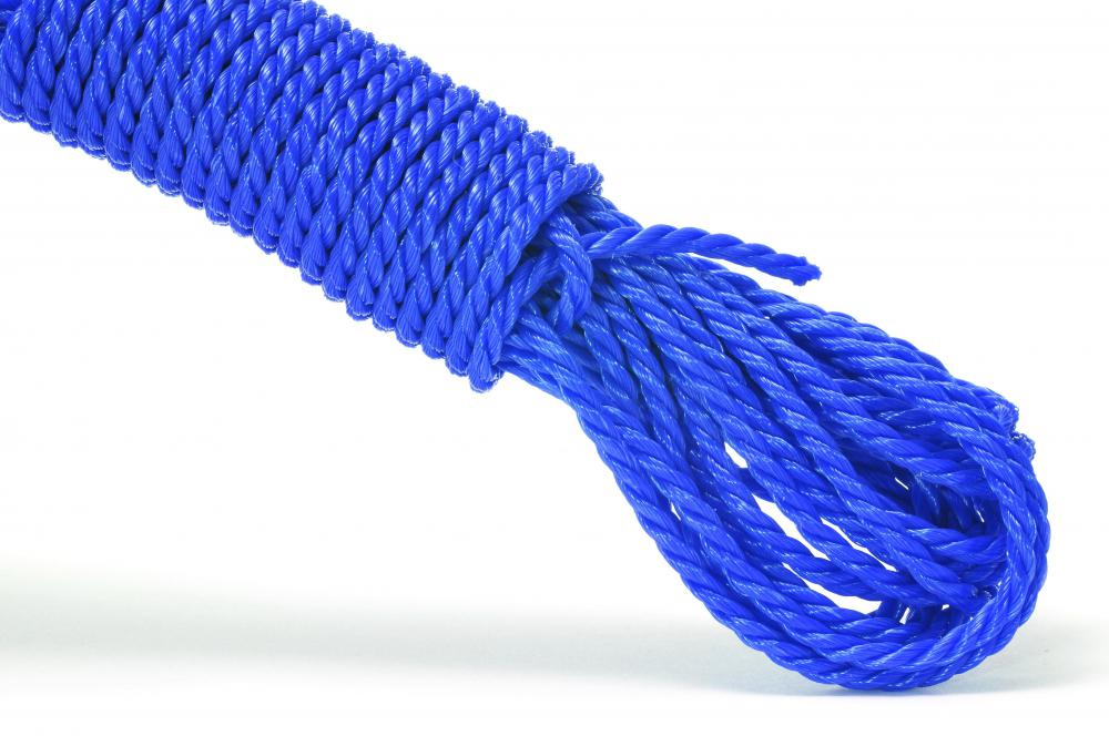 Nylon rope, like that used for a deer hoist.