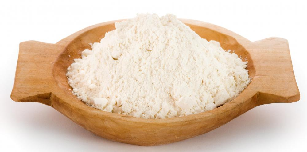 Oat flour, which is made from oat groats.