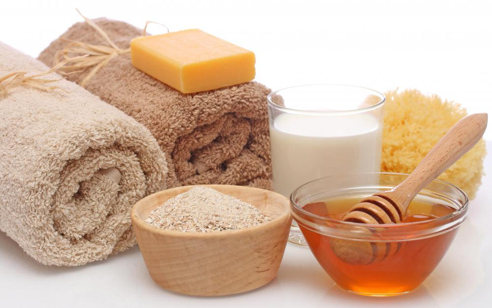 Oatmeal baths soothe and moisturize dry, peeling skin.