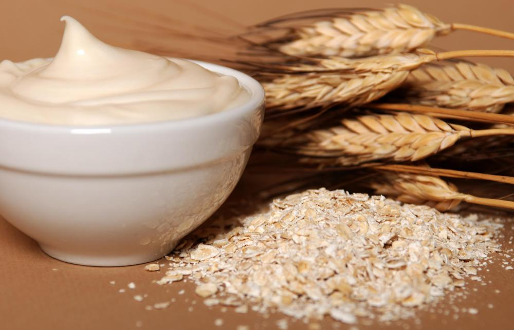 An oatmeal based lotion can help soothe skin after a body wax.