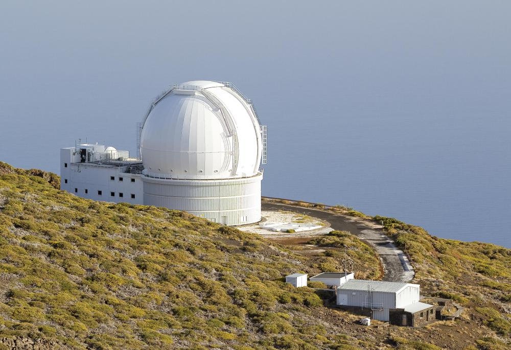 Images from telescopes can be stored on a digital device.