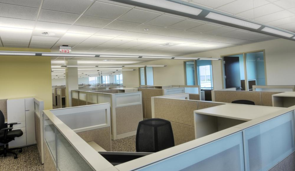 Cubicles are one type of office space.
