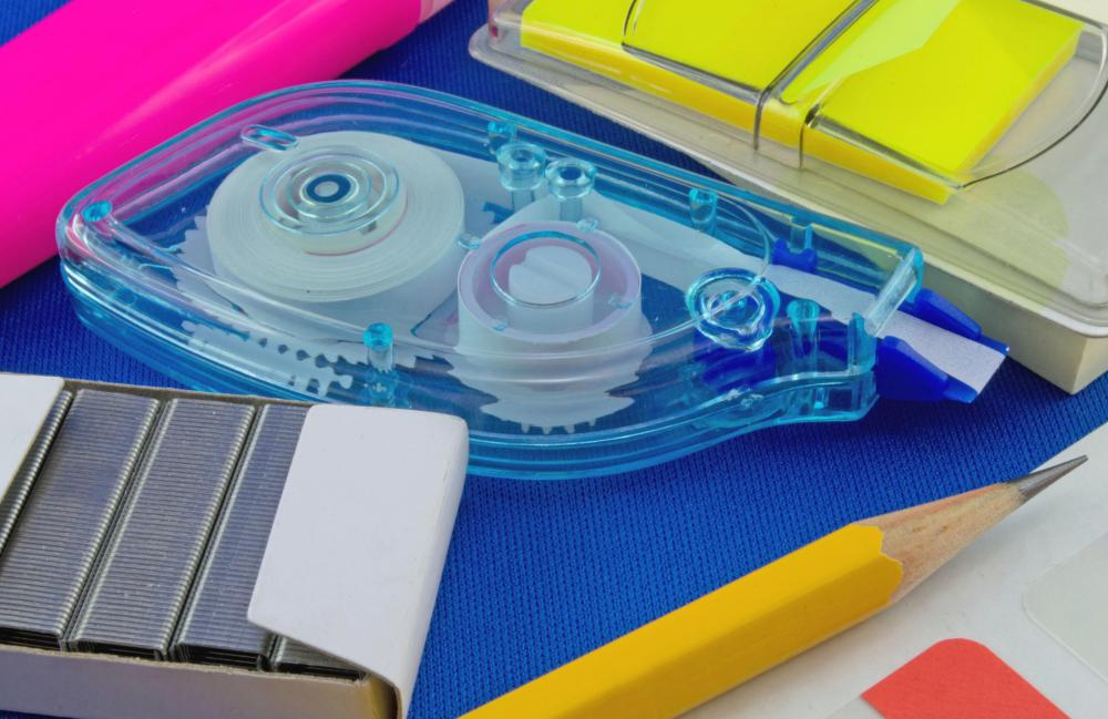 A range of school supply items might be collected during a supply drive.