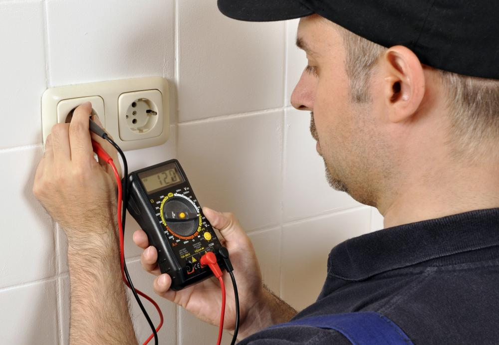An electrician generally will require a voltmeter.