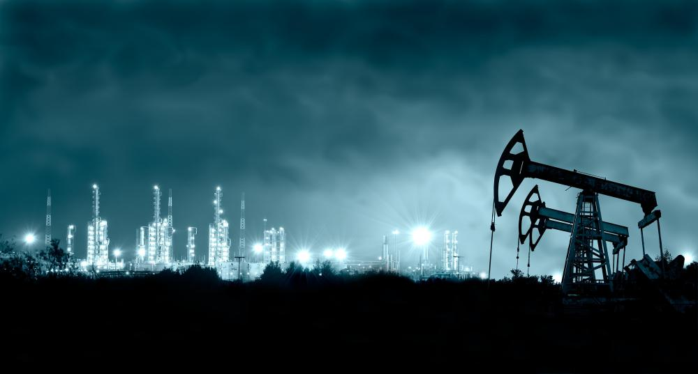 "A ""vertically integrated"" oil company operates drilling and refining equipment."