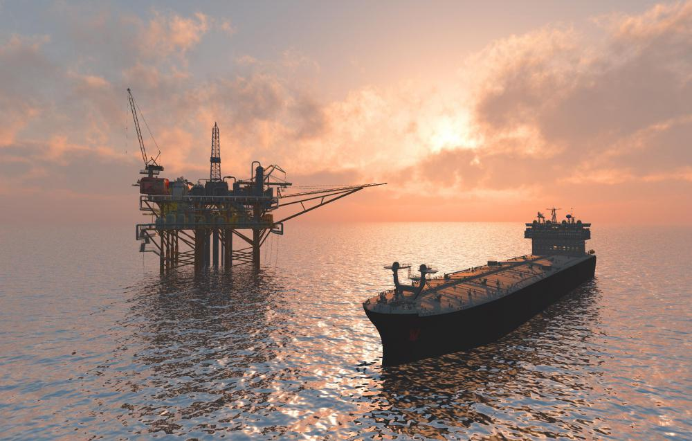 Offshore oil rigs can cause oil and heavy metal pollution, especially if poorly maintained.
