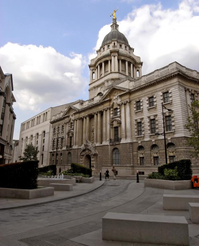 Lady Justice sits atop the Old Bailey courthouse in London.