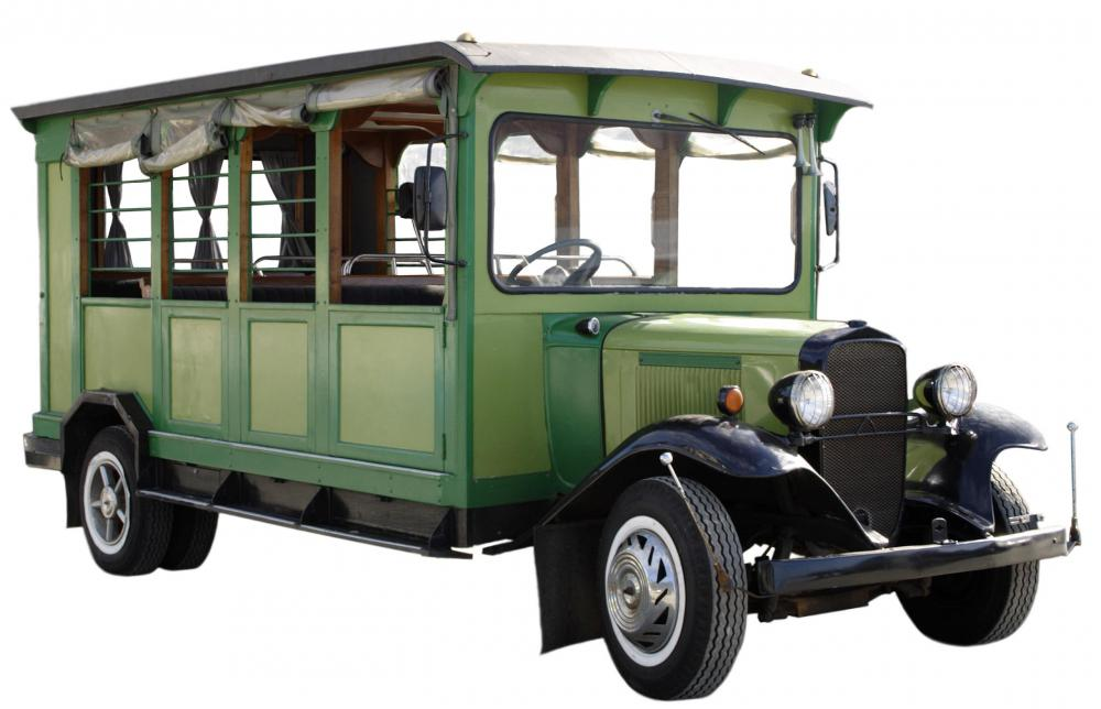 Using a quaint vehicle to shuttle tourists is one way of promoting tourism while providing a needed service.