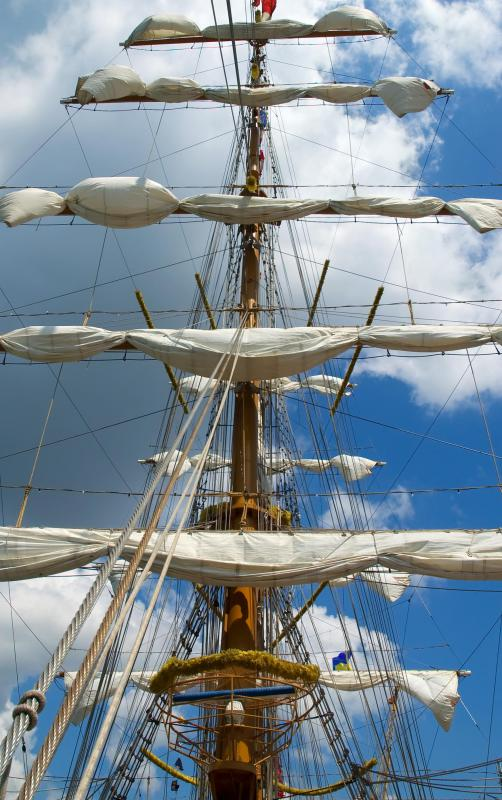 Cross-trees are the horizontal beams on either side of a ship's mast.