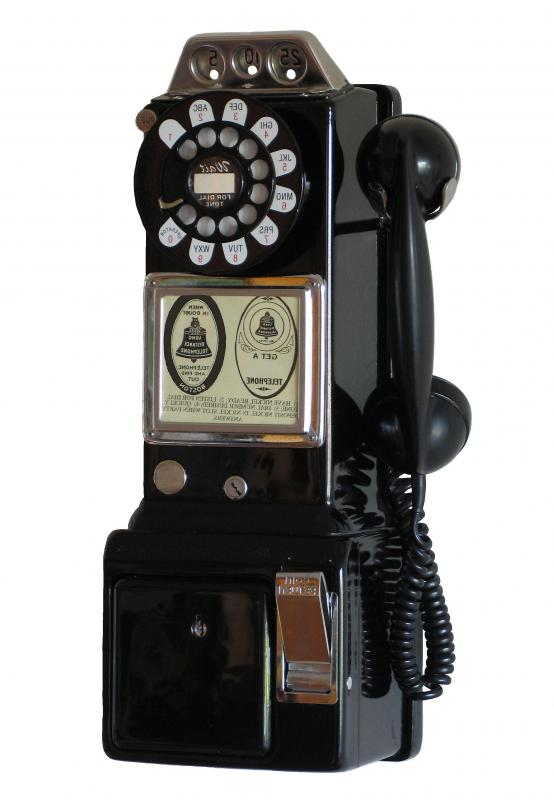 A Coin Operated Public Telephone