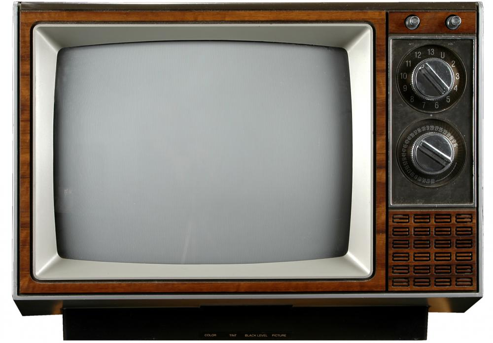 An analog TV.