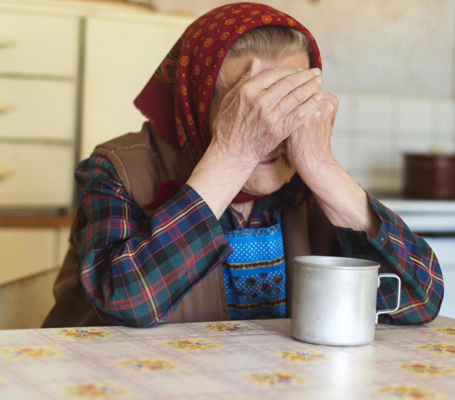 Agitated depression often occurs in the elderly.