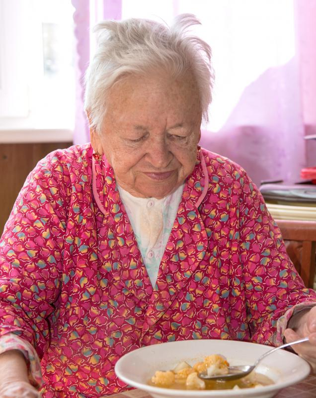 A geriatric dietitian works with elderly people to help them meet their dietary needs.