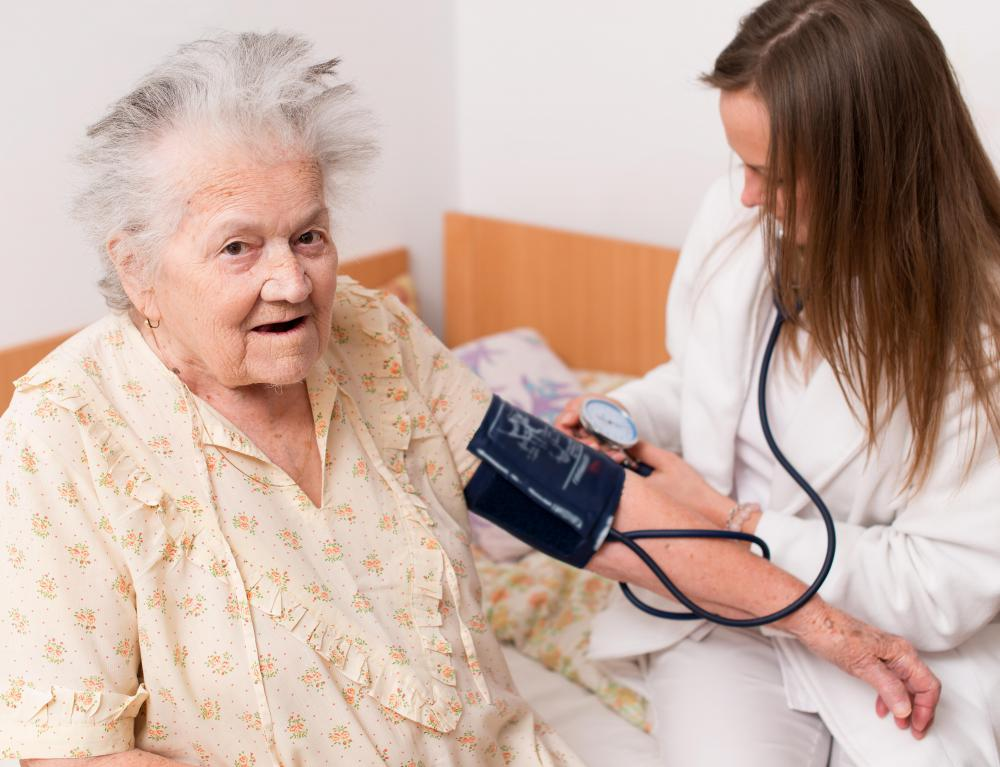 Some nurses work in the home-care field.