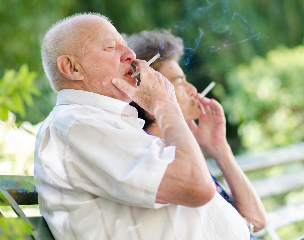 Elderly People Who Smoke Can Experience Discoloration Of Their Hair And Skin