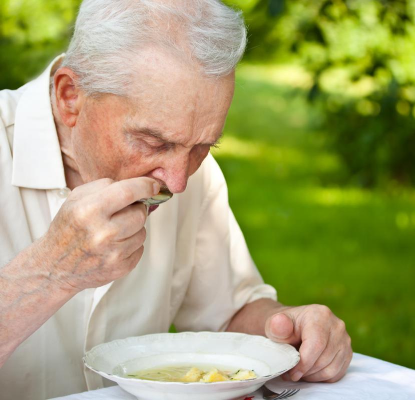 Alzheimer's disease or another cognitive disorder may cause an elderly person to neglect to eat properly.