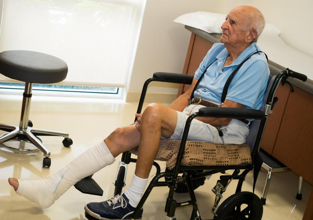 A fracture in the lower leg could jeopardize circulation in the foot.