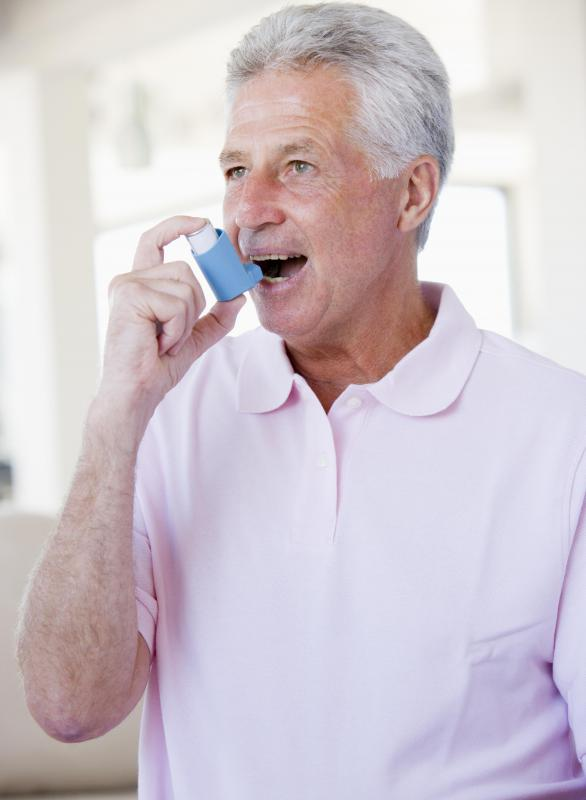 Inhaled medications can open the airways and allow easier breathing.