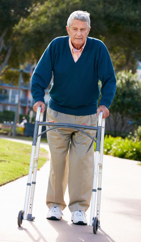 Individuals suffering from Parkinson's disease may experience walking difficulties.