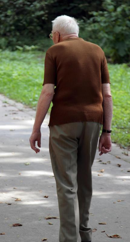 Patients suffering from Alzheimer's disease may be prone to wandering away from home.