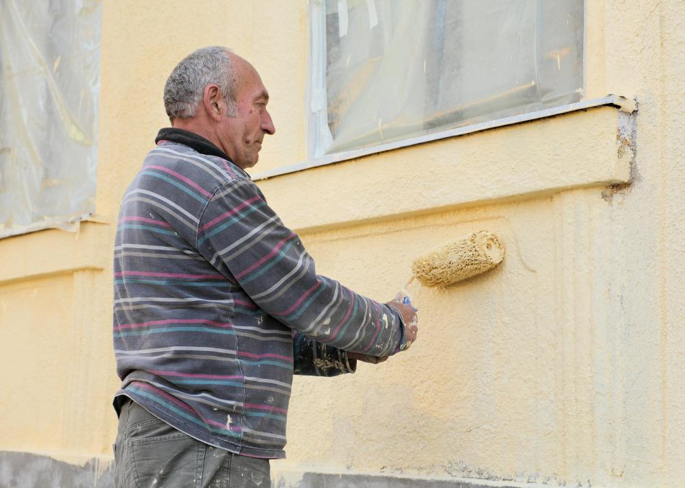 Masonry paint must remain wet enough to be rolled onto masonry surfaces.