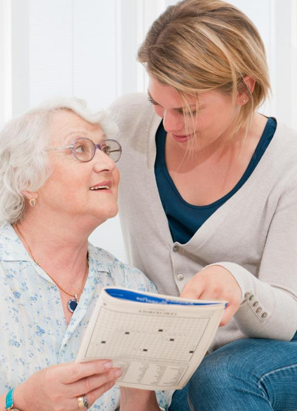 Some caregivers act as companions, engaging in games and puzzles with clients.