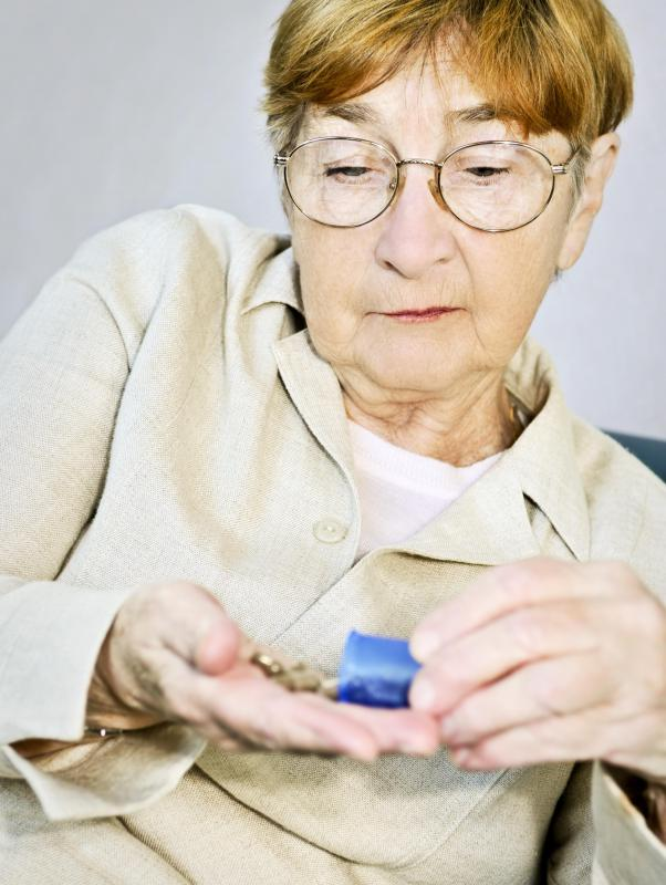 Elderly individuals who take a lot of pills may benefit from use of a pill splitter.