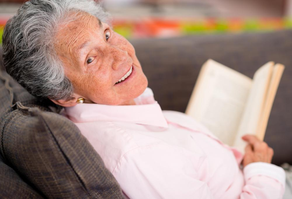 Reading is a good way to stay mentally active, which is important for managing dementia.