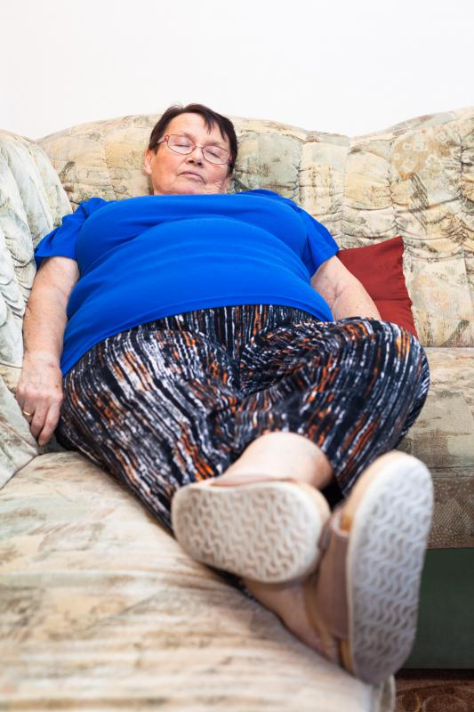 People who are obese and sedentary may be more prone to developing rest pain.