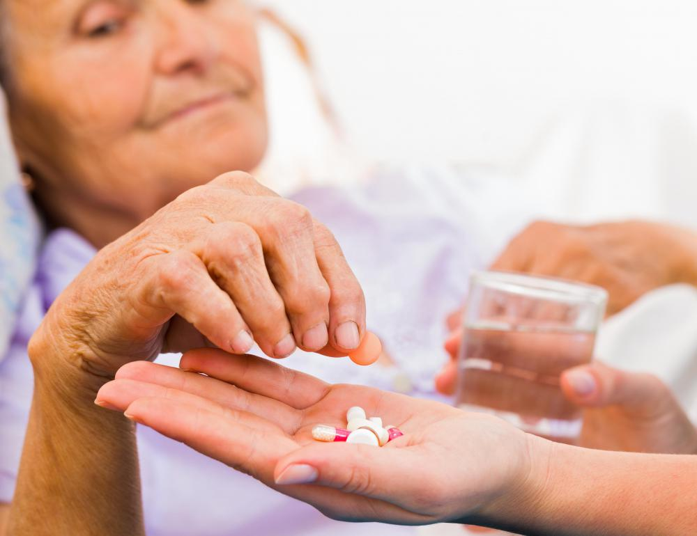 Some medications taken by the elderly can lead to dehydration.