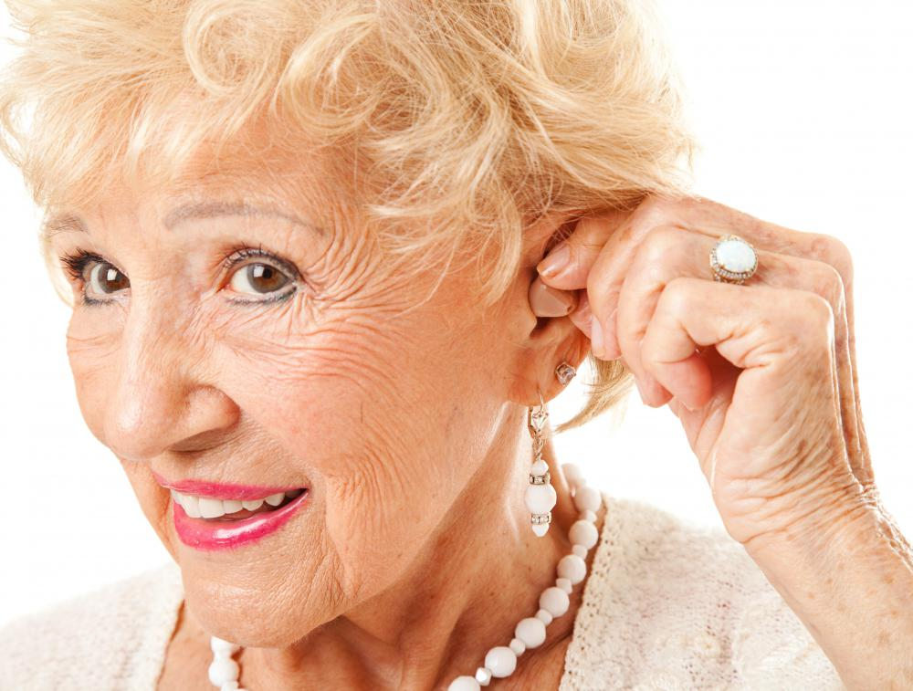 Hearing aids may be used to treat moderate cases of nerve deafness.