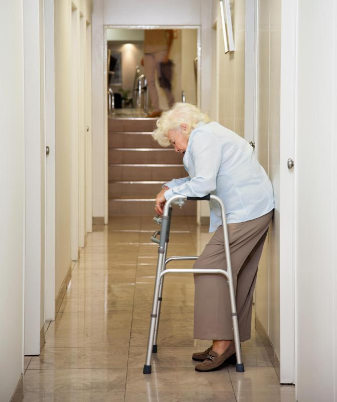 After orthopedic surgery, a patient may be required to use a walker.