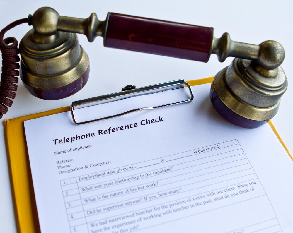Telephone interviews are used by companies to communicate with prospective employees.