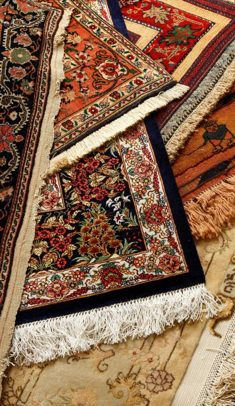 Olefin is often used to make various kinds of area rugs.