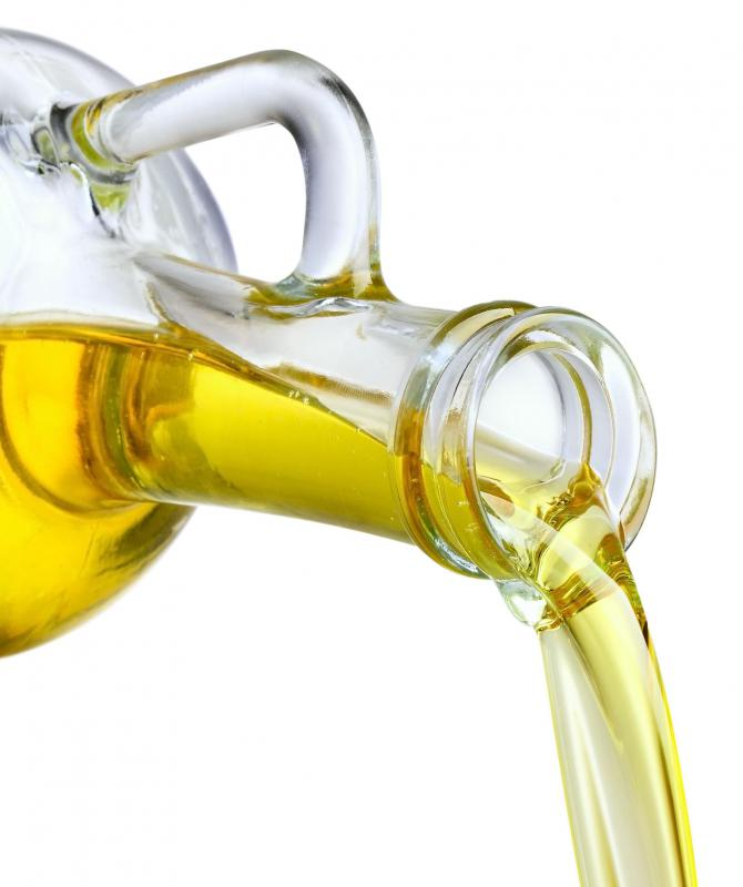 Olive oil is a good source of fatty acids.