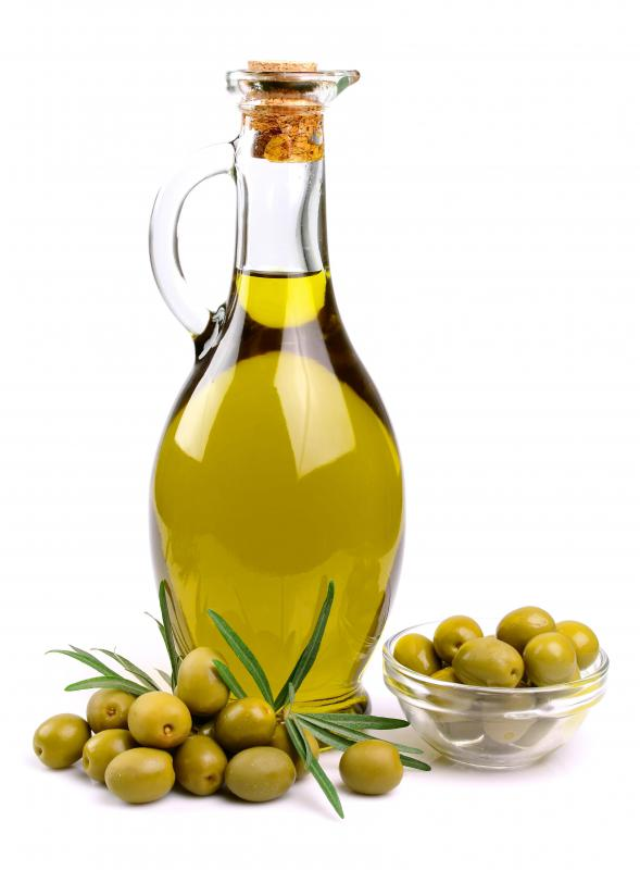Olive oil is used to flavor rosemary potatoes.