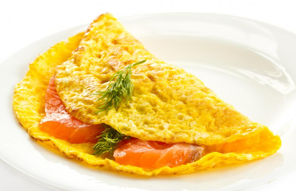Omelets can contain a variety of fillings and seasonings.