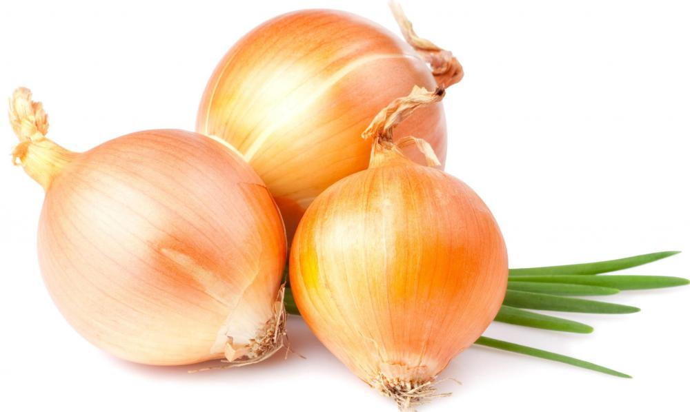 Onions, which are used to make zweibelkuchen.