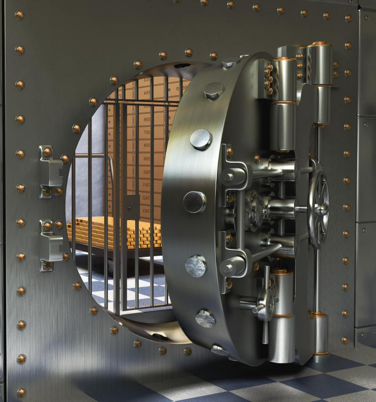 Among the services that commercial banks offer is renting out safety deposit boxes in its vault.