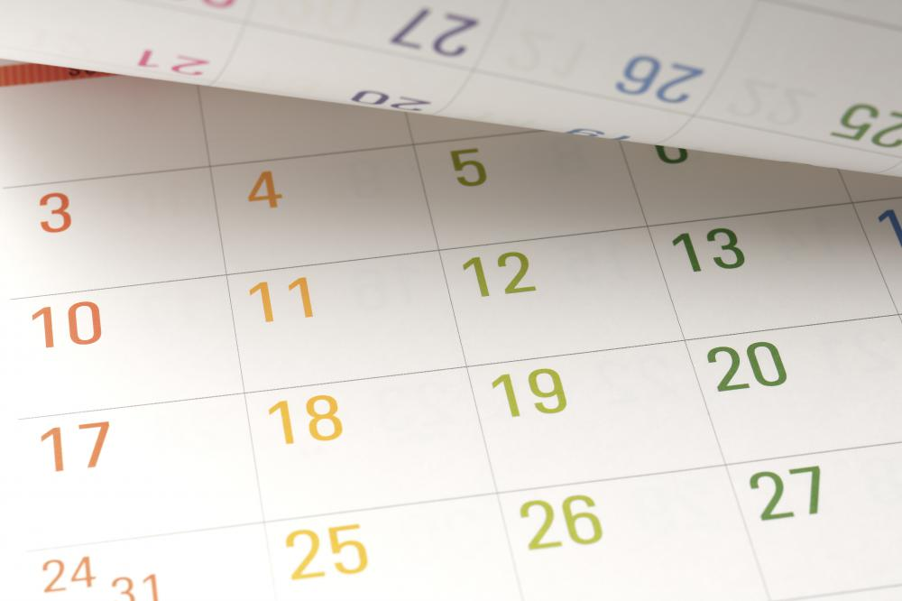 Calendars can help people stay organized.