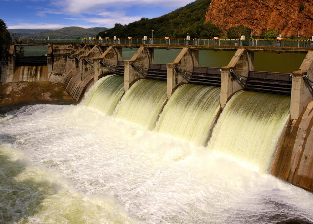 Hydropower dams provide a renewable energy source.