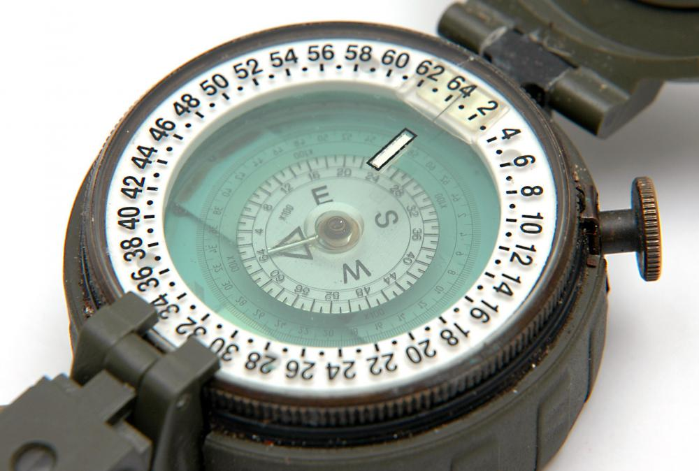 Prismatic compasses include pointers that allow users to isolate a direction.