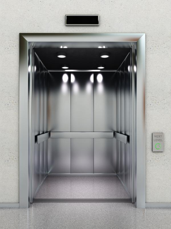 One type of machine room controls the operation of a building's elevators.