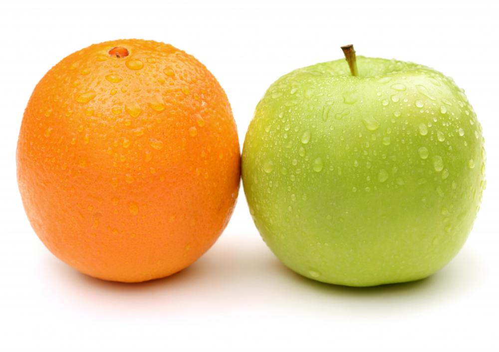 "They saying ""apples and oranges"" refers to the idea that two things shouldn't be compared."