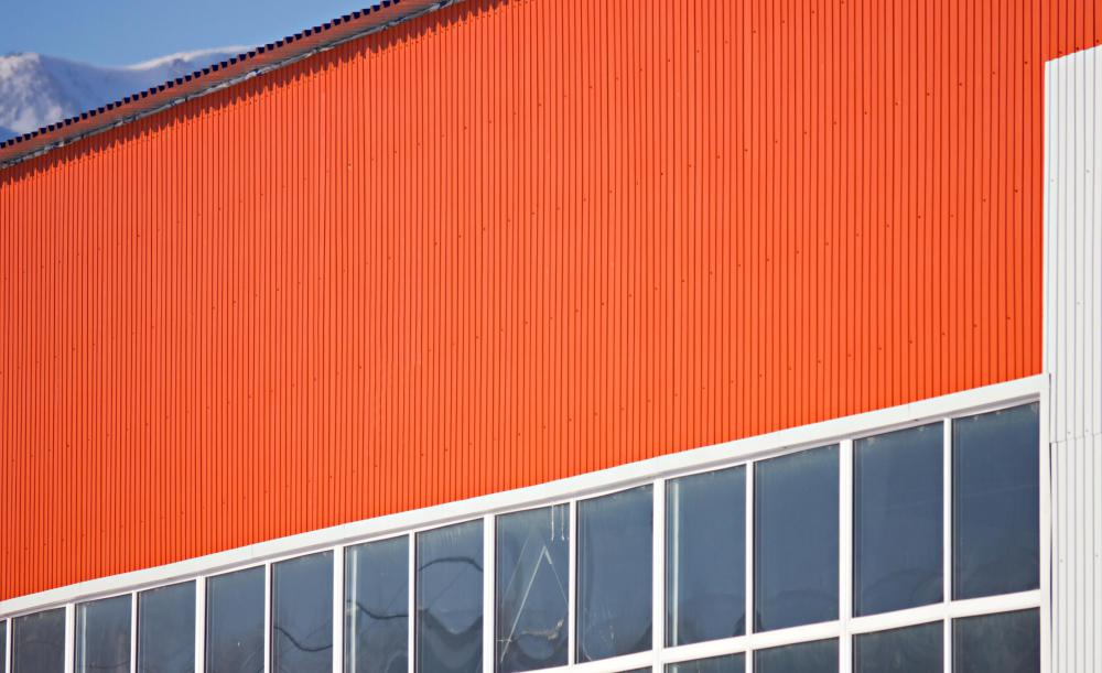 Many people prefer to paint corrugated metal.