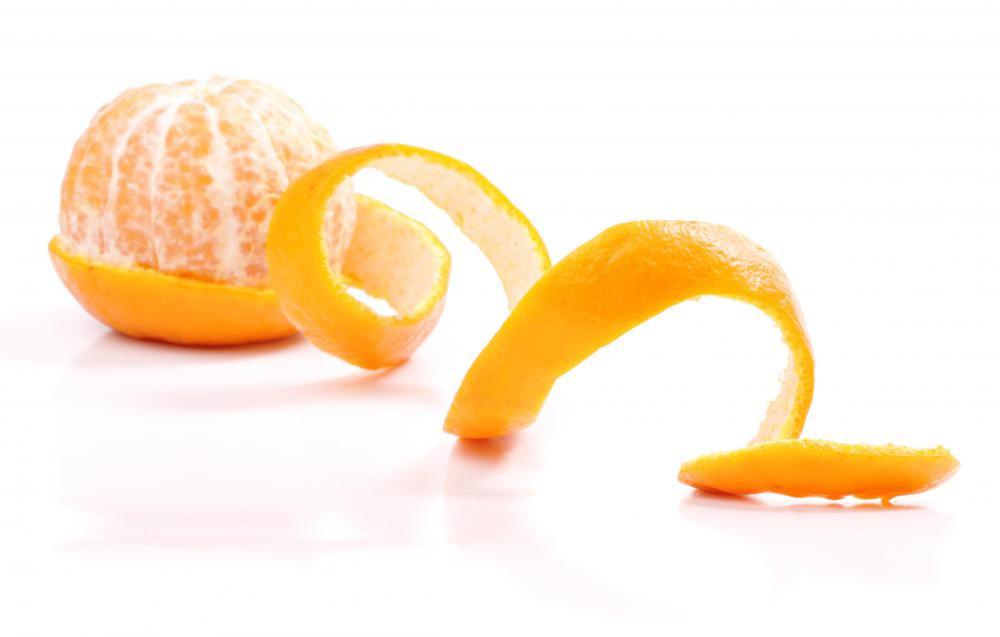 Orange peel is sometimes used to scent linen water.