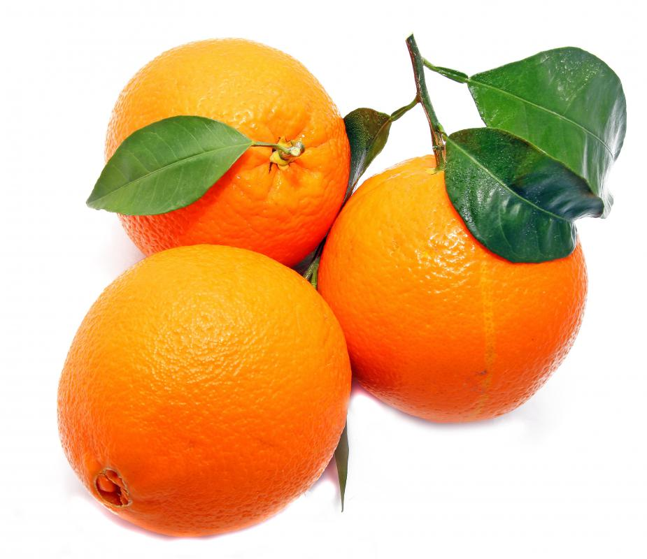 Oranges, which can be used to make orange juice, which contains vitamin C.