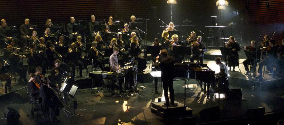 An orchestra consists of several different sections of instruments.