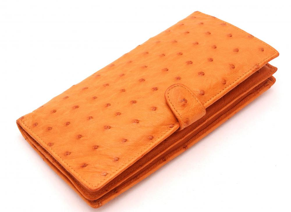 Ostrich leather is used similar to cow leather to make a variety of products.