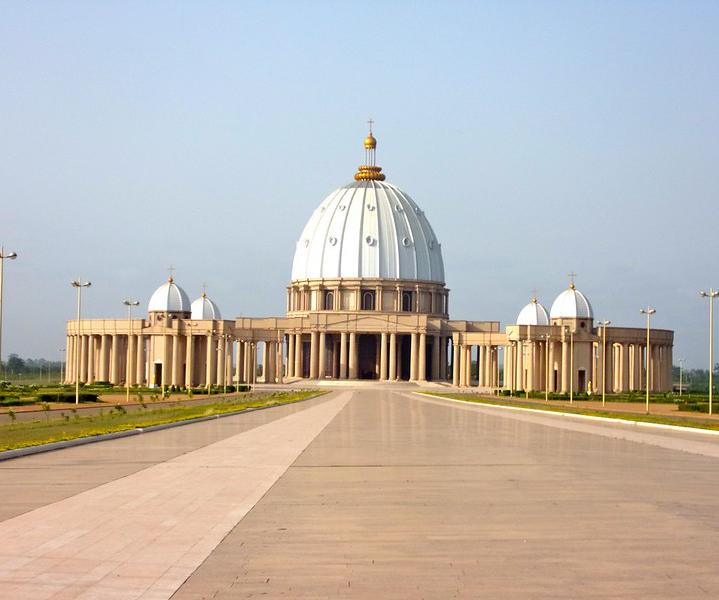 The world's tallest Roman Catholic church is the Basilica of Our Lady of Peace, located in Yamoussoukro, Ivory Coast.